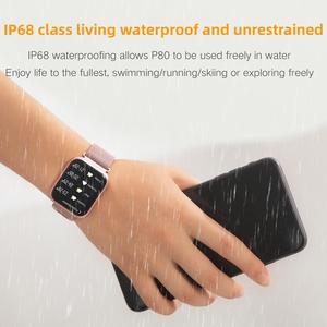 Image 2 - Greentiger P80 Smart Watch Women IP68 Waterproof Heart Rate Monitor Fitness Tracker Blood Pressure Smartwatch VS B57 P68 S226