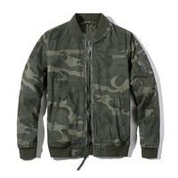 Autumn Winter Camouflage Bomber Jacket Man Stand Collar Coat Military Army Style Warm Thick Jacket Men Clothing Plus Size Jacket