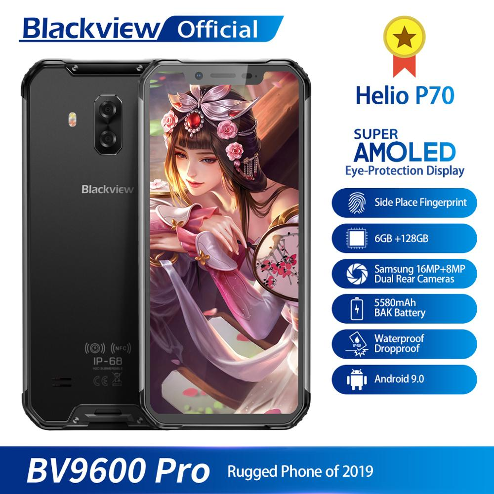 Blackview BV9600 Pro Helio P70 IP68 Waterproof Mobile Phone 6GB+128GB Android 9 Outdoor Rugged Smartphone 19:9 AMOLED Cellphone