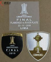 2019 Flamenco FINAL COPA LIBERTADORES PATCH SET 2019 CONMEBOL LIBERADORES Final Match Details + TROPHY 1 and TROPHY 2 patch cheap Iron-On Printed Patches