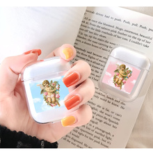 Soft Cute Headphone Case For Apple airpods Case Luxury Angel Baby Lovely Air Pods Case For Airpods 2 Transparent Soft Cover