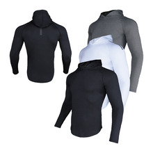 Hoodies Sweatshirts Long-Sleeve Gym Fitness Compression Training Quick-Dry Male Outdoor
