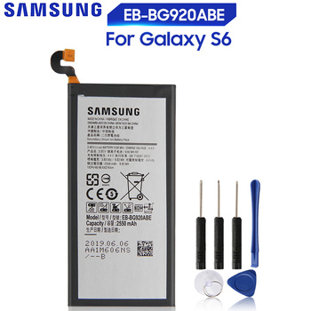 Original Battery For SAMSUNG Galaxy S6 G9200 G920F G920I G920 G920A G9208 G9209 G920V G920T G920P EB-BG920ABE EB-BG920ABA original eb bg920abe battery for samsung galaxy s6 g9200 g9208 g9209 g920f g920i eb bg920aba replacement phone battery 2550mah
