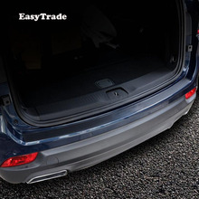 Car Rear Door Sill Plate Protector Anti-Scuff Trunk door sill leather sticker For Jeep Renegade 2014-2019 Accessories
