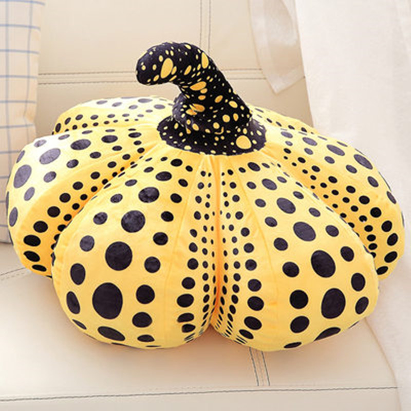 Simple Modern Yayoi Kusama Wave Point Simulation Pumpkin Plush Pillow Creative Office Lunch Break Pillow Stuffed Toys M3241