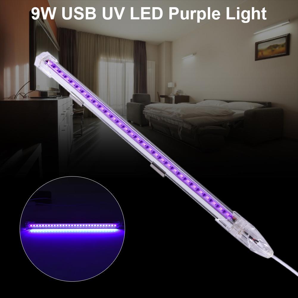 30cm UVC Sterilizer 9w USB LED Disinfection Tube DJ Disco Lamp Party Christmas Bar Stage Backlight Fluorescence Detection