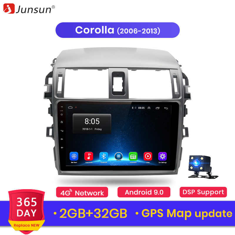 Junsun V1 Android 9.0 4G Car Radio Multimedia Player GPS For Toyota Corolla E140/150 2007 2008 2009 2010 2011 2012 2013 2din DVD