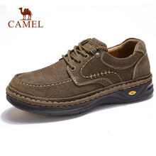 Flats Casual-Shoes CAMEL Autumn Genuine-Leather Footwear Outdoor New Thick Hand-Stitching