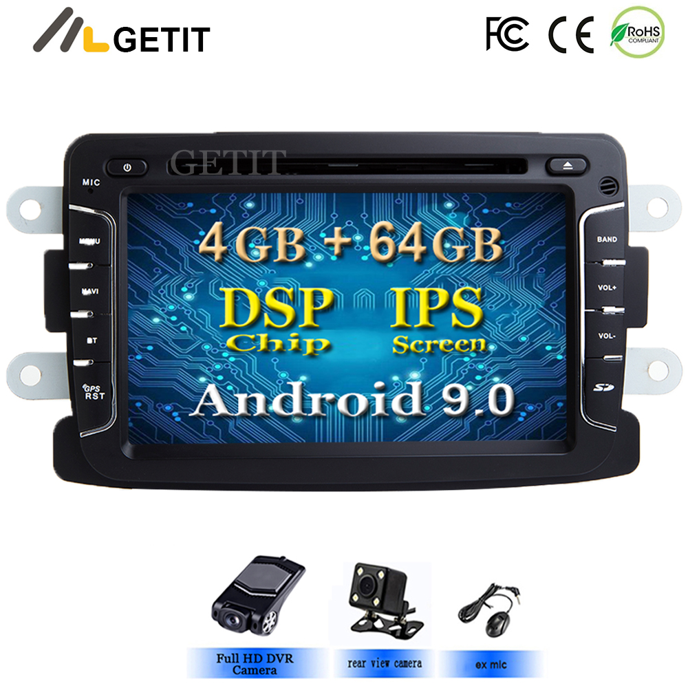 DSP Chip IPS Car Multimedia player Android 9 Automotivo 2 Din For Dacia/Sandero/Duster/Renault/Captur/Lada/Xray 2/Logan 2 GSP-in Car Multimedia Player from Automobiles & Motorcycles    1