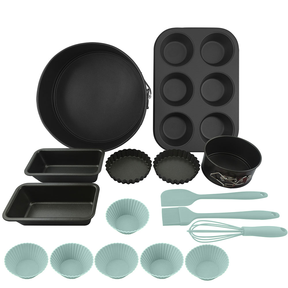"Bakeware conjunto de cozimento antiaderente forno redondo 8.3 ""& 4.3"" bolo springform panelas 6-cup muffin pan panelas de pão quiche panelas diy ferramentas de cozimento"