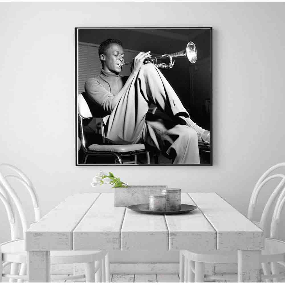 D224 New Miles Davis Kind Of Blue Jazz Music Classic Album Art Silk Poster Canvas Decoration Print Pictures custom 27x27 12x12 image