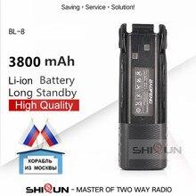 1pc 2pcs BL 8 Battery Enlarge 3800mah 2800mAh Camo Baofeng uv 82 Battery For UV 82HP UV82 Plus UV 8D UV 82WX UV 89 UV 82 Battery