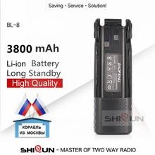Baofeng Batería de BL 8 para uv 82 UV82 Plus, UV 82HP, UV 8D, UV 82WX, UV 89, 3800mah, 2800mAh, 1 ud., 2 uds.