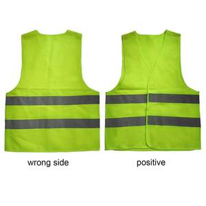 Safety Clothing Fluorescent-Vest Reflective Running-Ventilate Orange-Color XXL High-Visibility