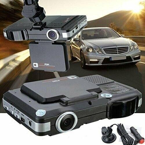 2 In1 HD Car DVR Speed Anti Detector Camera Video Recorder Dash Cam G-Sensor Night Wide Angle Dashcam Video Registrar