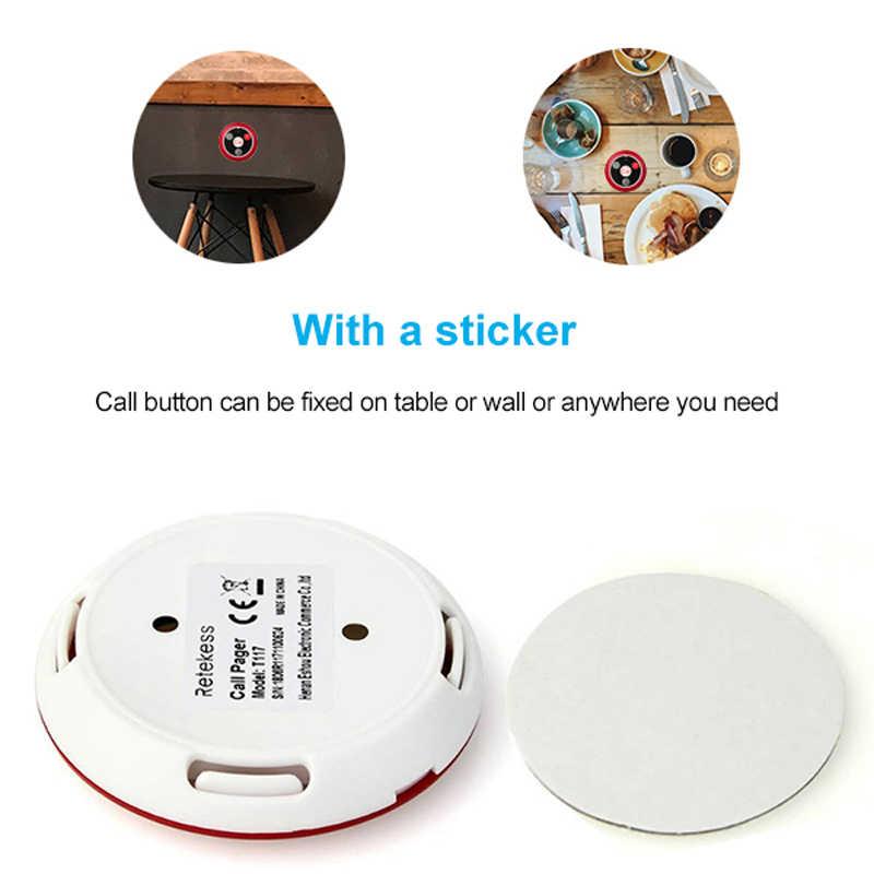 Sistema de llamada inalámbrica Retekess, llamada al cliente, buscapersonas para restaurante, oficina, cafetería, servicio de transmisión de voz, Host + 10 botones de llamada