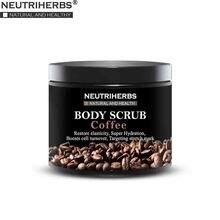 Facial Body Coffee Scrub for Exfoliating Whitening Moisturizing Anti Cellulite Treatment Acne