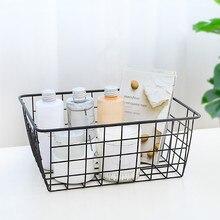 Портативный домашний Железный художественный провод кованая домашняя корзина для хранения настольный металлический органайзер держатель для ванной и кухни Контейнер для мелочей