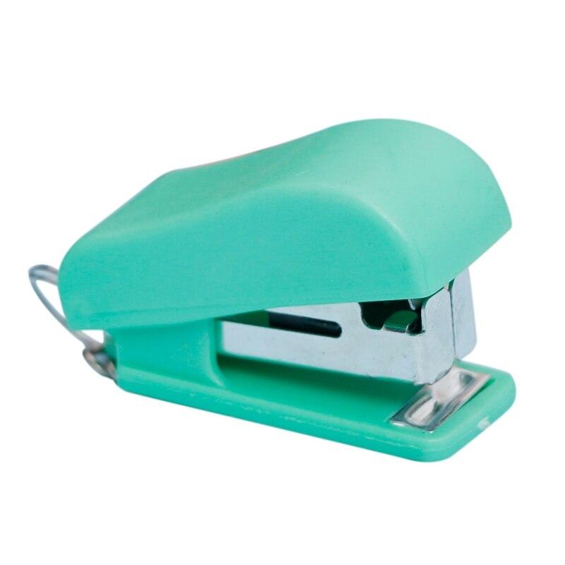 1Pc Mini Stapler Plastic Stationery Set Kawaii Stapler Paper Office Accessories Cute Multicolor Stapler