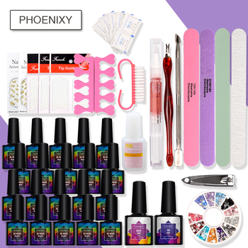 Set For Nail With Gel Nail Polish Set Top Base Coat Complete Manicure Tools Nail Handle Art Gel Semi Permanent All For Manicure 1