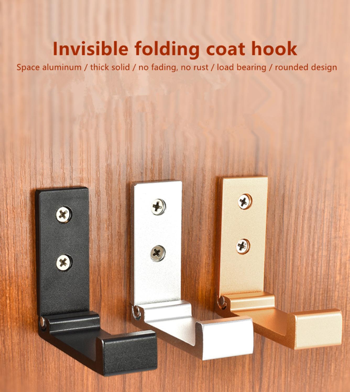 Door Wall Hook Hanger Single Hat Coat Robe Space Aluminum Single Hook