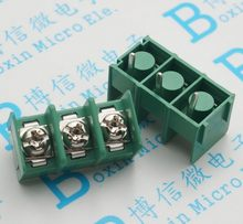 10 TEILE/LOS KF 7,62-3P 7,62mm pitch anschluss pcb screw terminal block anschluss 2pin 300V 20A 22-12AWG(China)