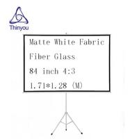 Thinyou 84 אינץ 4:3 מקרן מסך מט לבן בד סיבי זכוכית חצובה נייד למשוך עד יציב stand סוגר מסך-במסכי הקרנה מתוך מוצרי אלקטרוניקה לצרכנים באתר