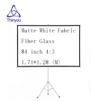 Thinyou 84 inch 4:3 projector screen Matte White Fabric Fiber Glass Tripod Portable Pull Up Stable stand Bracket Screen thinyou 72 inch 4 3 matte white fabric fiber glass bracket screen gain portable pull up projector screen stable stand tripod