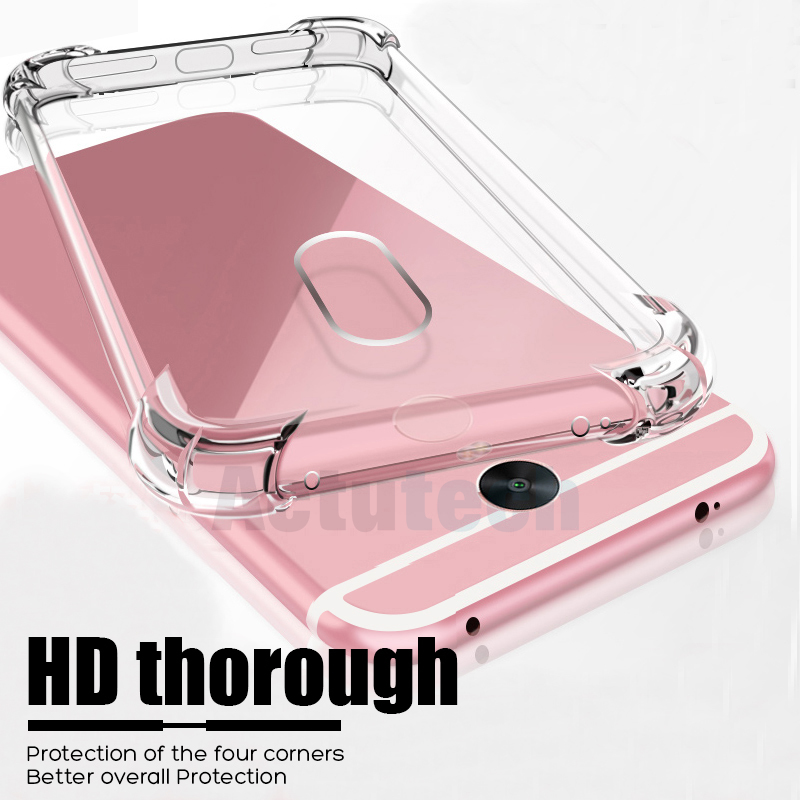 Luxury Shockproof Silicone Phone Case For Xiaomi Redmi Note 4 4X 4A 5A 7 5 6 Pro S2 K20 Pro 7A Case Transparent Back Cover