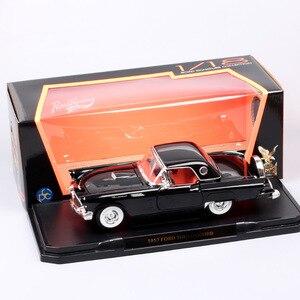 Image 5 - 1/18 yol imza büyük ölçekli 1957 FORD THUNDERBIRD vintage Diecasts ve araçlar T kuş modeli oyuncak thumbnails için erkek hediye