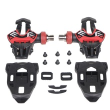 цена на Road Bike Pedals Titan Carbon Bicycle pedals Self-Locking Clipless Pedals With Cleats Titanium Ti Pedal Bicycle Parts