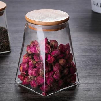 350ml/500ml/750ml/950ml Coffee Jar Tea Jar  sugar jar  glass container  candy jar Storage Container Kitchen Container Cover 3
