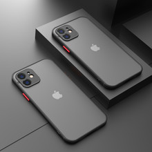 Luxury Shockproof Silicone Bumper Phone Case For iPhone 12 11 Pro MAX Mini X XR XS 8 7 6 6S Plus SE 2020 Transparent Matte Cover