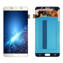 LCD עבור סמסונג גלקסי 5 N920 N920F N920A N920C 5.7 המקוריים Amoled LCD תצוגה + מסך מגע Digitizer החלפת חלקים