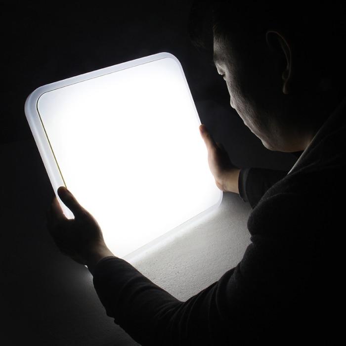 Lâmpada led de 12 18w, luminária quadrada,