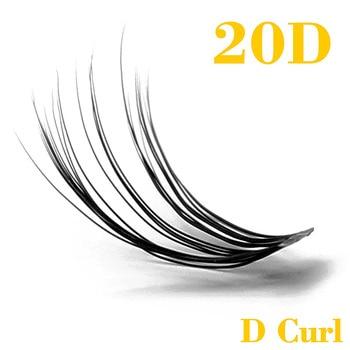 Kimcci 20D Natural Long Individual Eyelash Extension Cluster Faux Eyelashes 60 Bundles/box Professional Makeup Mink Flare Lashes