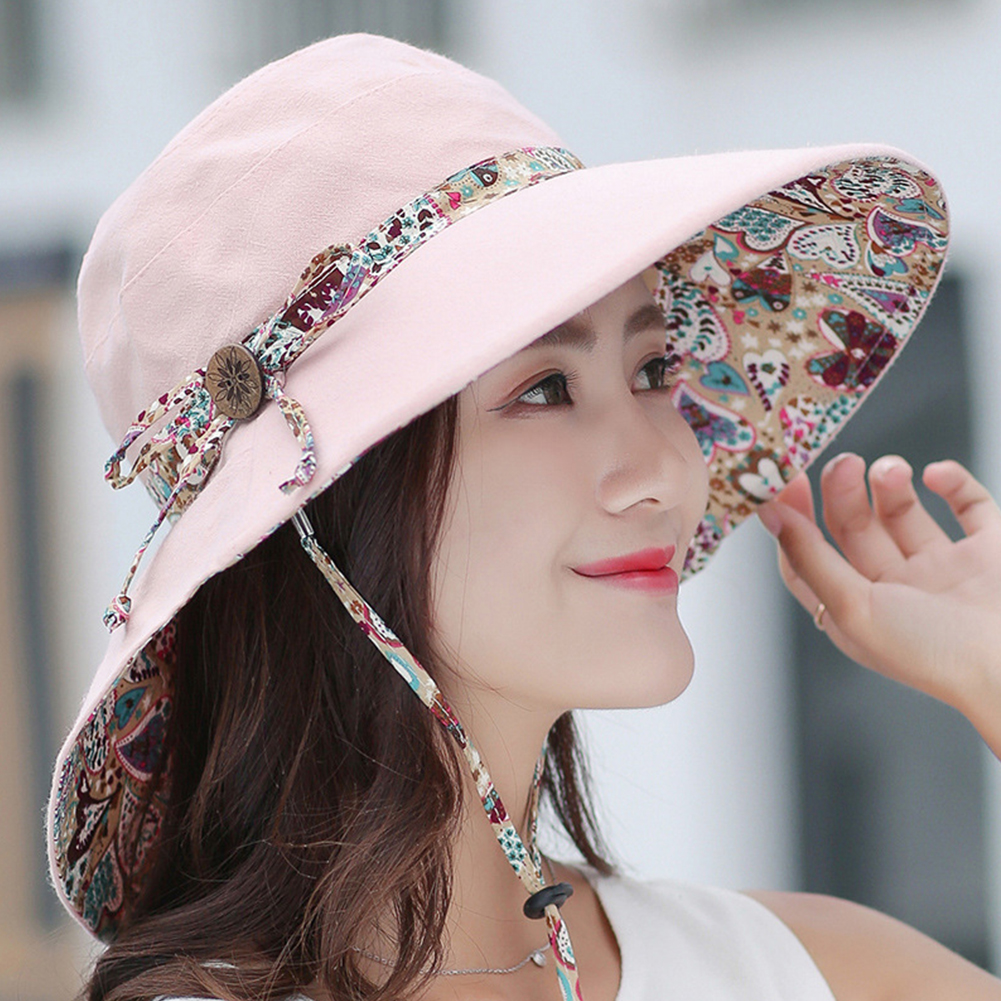 Fishing Casual Cotton Summer Caps Sun Hat Packable Fisher Wide Brim Women UV Protection Lady Fashion Visors Floppy