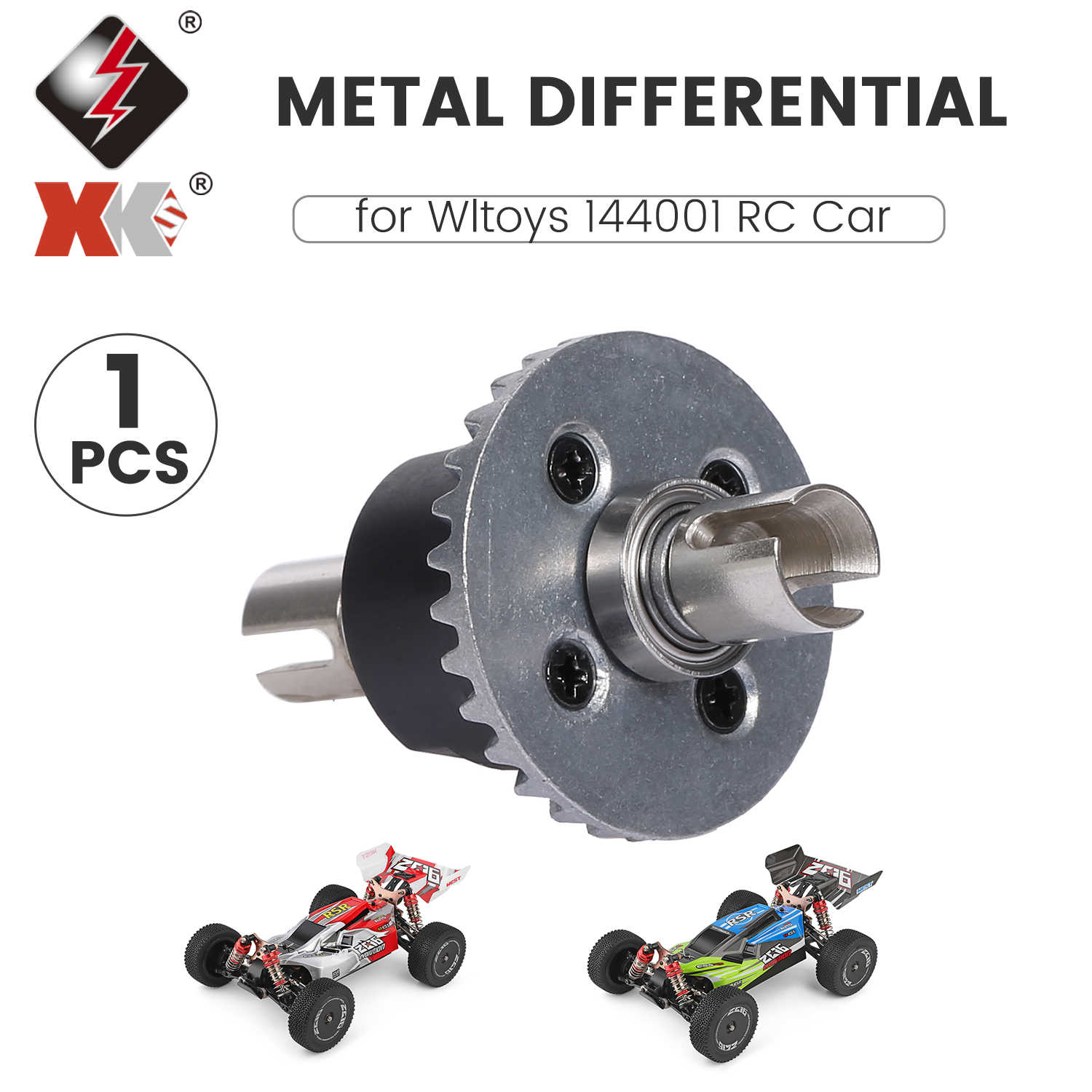 for WLtoys 144001 1//14 RC Car Metal Upgrade Differential Box Case Upgrade P H8F4
