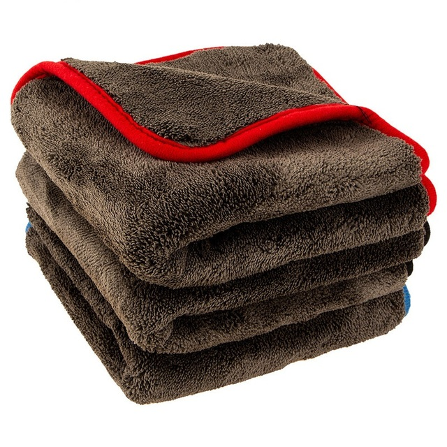 سيارة تنظيف الملابس ترقية 1200gsm فائقة سميكة منشفة للسيارات ستوكات القماش لينة سوبر ماصة تنظيف منشفة