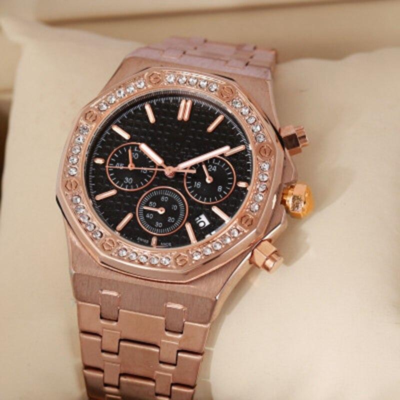 Marque de luxe haut de gamme FOSSIL montre homme jour-Date diamant montres hommes aaa montres relojes hombre 2019