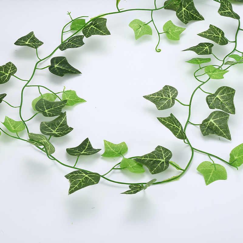 2.1M Kunstmatige Ivy Green Leaf Garland Planten Vine Fake Gebladerte Bloemen Home Decor Plastic Kunstbloem Rotan String TSLM1