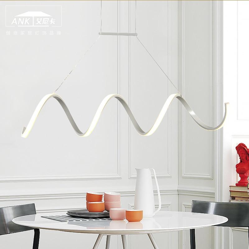 Postmodern Nordic Led Circle Pendant Light Dining-room Bar Corridor Study Single-head Bed Kitchen Hanging Lamp Hanging Lamp