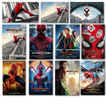 2019 Spider-Man: Far From Home Movie Poster Heroes Expedition Characters Study Room Bedroom Decorative Painting Wall Art