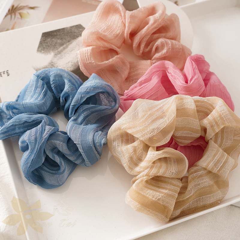 Ruoshui Woman Girls Spring Summer Colorful Hair Ties Girls Scrunchies Hair Accessories Ornaments Elastic Hair Band Headwear