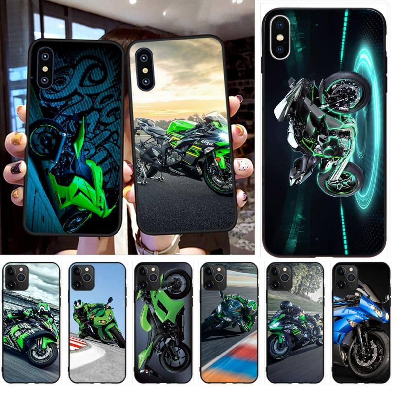 Чехол для телефона HPCHCJHM Kawasaki Ninja Zx R для iPhone 11 pro XS MAX 8 7 6 6S Plus X 5S SE 2020 XR image