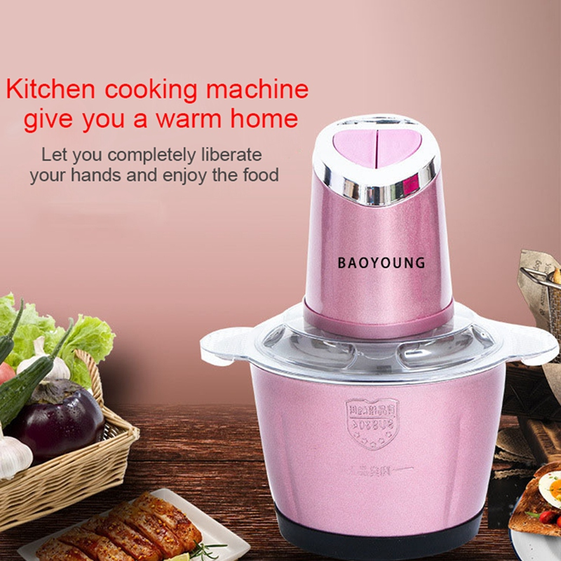Electric Kitchen Meat Grinder Chopper Shredder Food Chopper Stainless Steel Electric Household Processor Kitchen Tools 2 Cutter in Blenders from Home Appliances