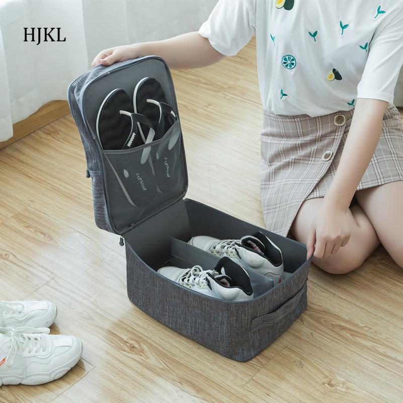 Travel Bag For Shoes Storage Portable Waterproof Oxford Pouch Zip Lock Set Luggage Case Home Closet Organizer Accessories