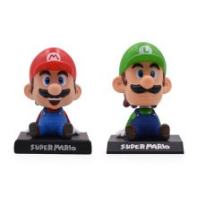 6'' 15CM 2Style Super Mario Bros Figures Anime Sitting Luigi Mario PVC Action Figure Model Dolls Toy Kids Hot Toys For Baby цена 2017