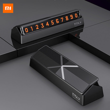 Original Xiaomi mijia Titx X Flip Type Car Temperary Parking Phone Number Card Plate Mini Car Decoration For xiaomi Mi home