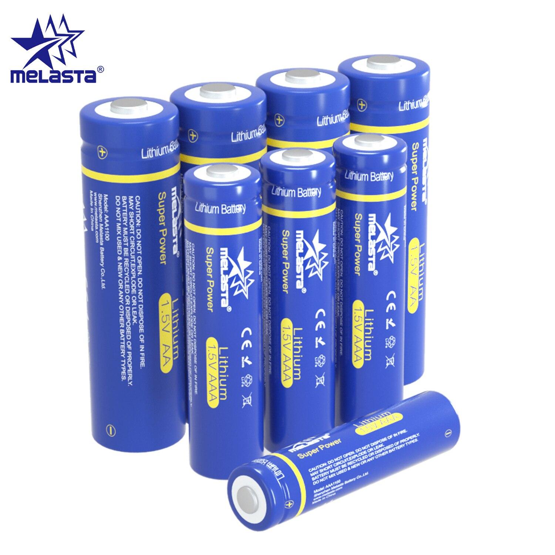 Melasta 4 sztuk lifes2 FR03 AAA + 4 sztuk FR6 AA baterie litowe podstawowe dla zabawek MP3 aparat golarka elektryczna szczoteczka zdalny zegar